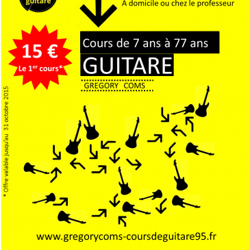 Offre !!! Le 1er cours à 15 euros