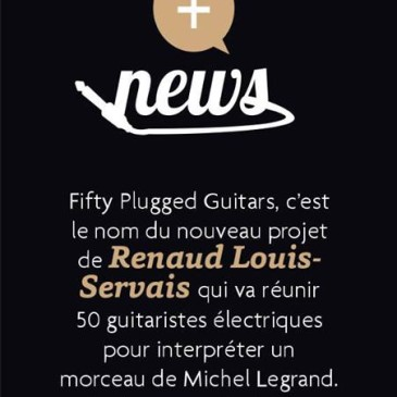 Projet Fifty plugged guitars